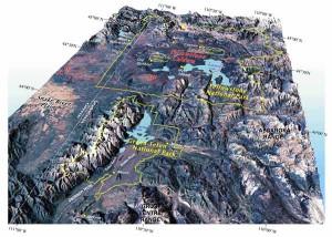 Кальдера Йеллоустоун. Вид из космоса.