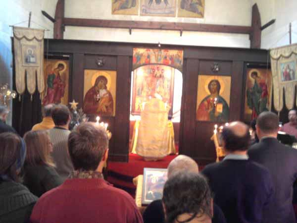 Храм Христа Спасителя в Нью-Йорке. о.Михаил.