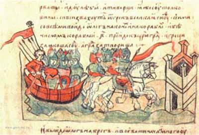 Олег Вещий ведёт войска к стенам Царьграда.