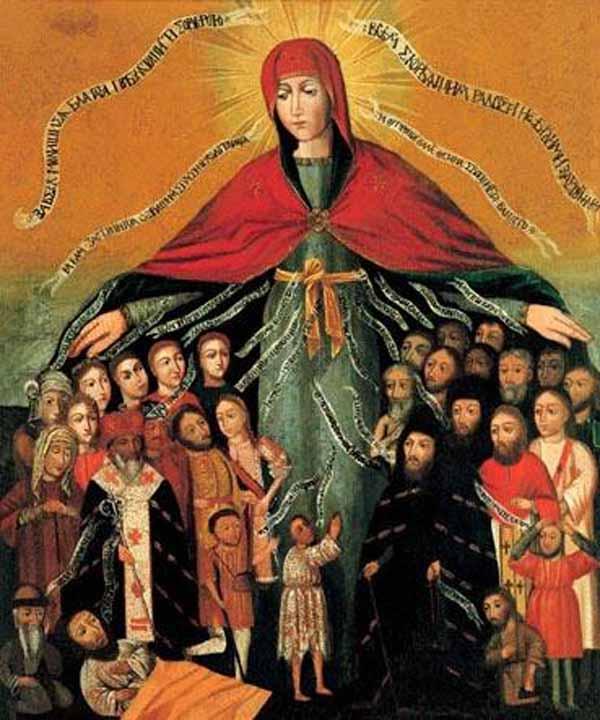 Покров Пресвятой Богородицы над Российским народом.