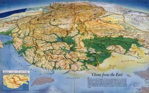 Взгляд на поверхность Китая с востока