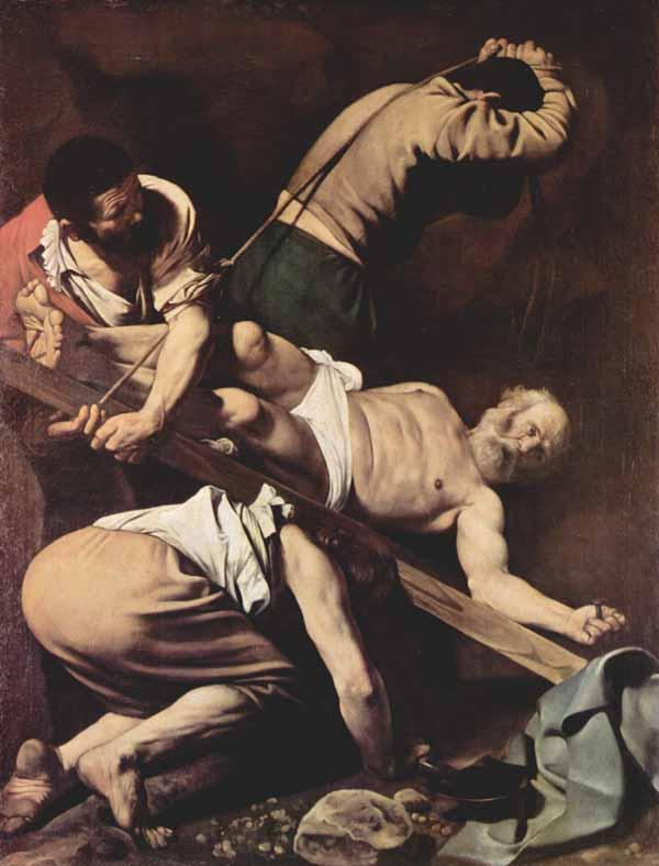 Смерть апостола Петра. Микеланджело да Караваджо (1573-1610).