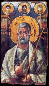 Икона Апостола Петра.Синайский монастырь. Начало VI века. Энкаустика
