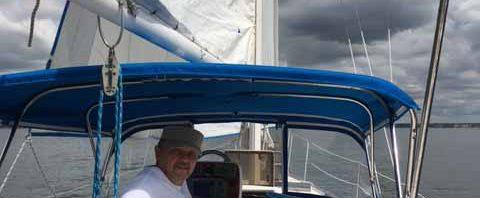 На яхте, под парусом, первый раз!
