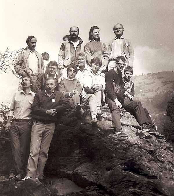 С. В. Гольдин со своими учениками. Черновцы. 1989 год