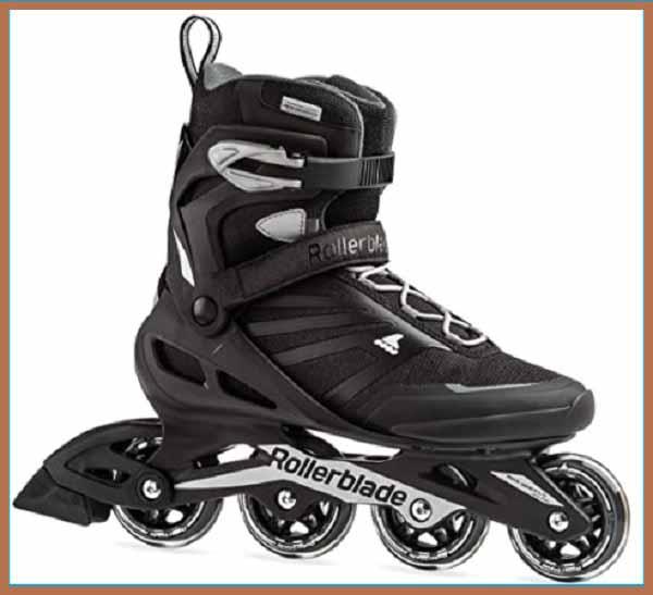 Rollerblade Zetrablade Men's Adult Fitness Inline Skate, Black and Silver, Performance Inline Skates