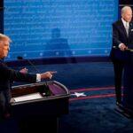 Первые дебаты кандидатов в президенты США Дональда Трампа и Джо Байдена. 29.09.2020 г.