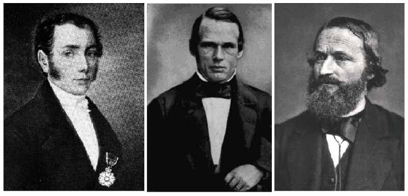 Йозеф Фраунгофер, Андерс Йонас Ангстрем, Густав Кирхгоф.