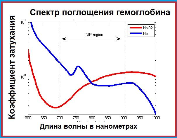 Спектр поглощения гемоглобина
