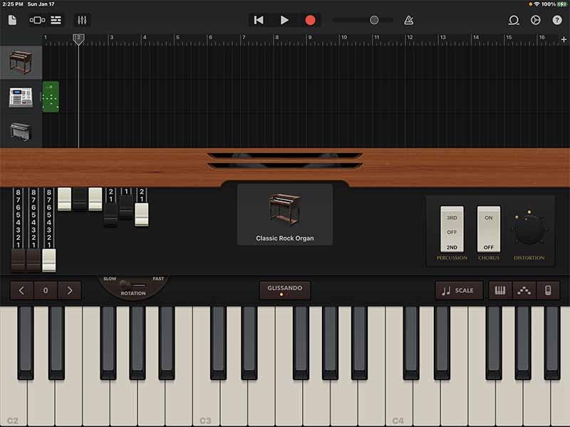 Настройки для Classic Rock Organ