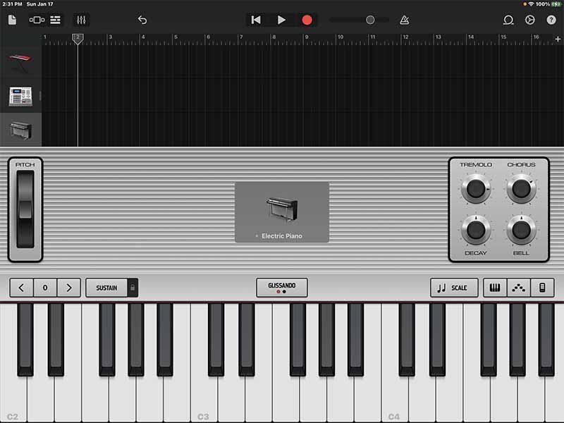Настройки Electric Piano